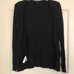 Ann Taylor black button down cardigan.